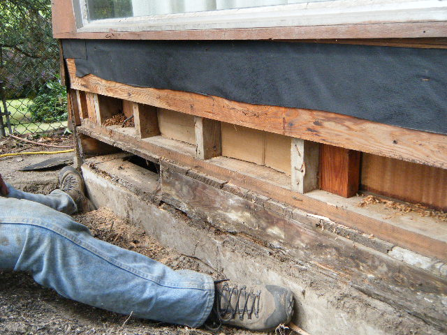 Rotten Floor Joists Repair How I Replaced A Rotted Rim